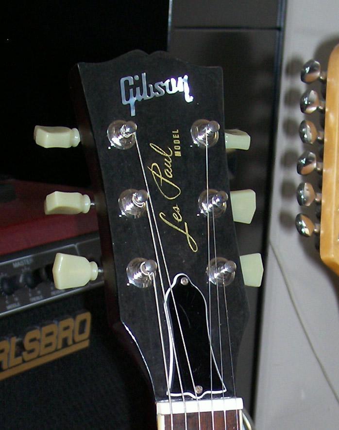 LP Overlay Veneer for Studio Size Headstock Gitarre N O S